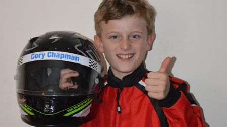 Cory Chapman, 10, from Mundesley, has put in some impressive performances on the go-karting track.