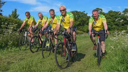 The Fellaton, a group of Norfolk men who are cycling from Land's End to John O'Groats in nine days a