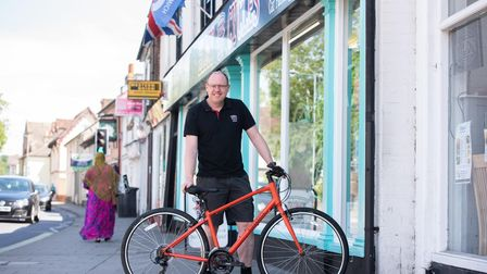 Steve Grimwood, owner of Elmy Cycles in Ipswich