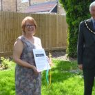 Sally Rose and Cllr Ray Jack, deputy mayor of March