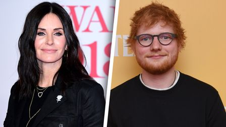 Friends star Courteney Cox and Suffolk star Ed Sheeran have teamed up