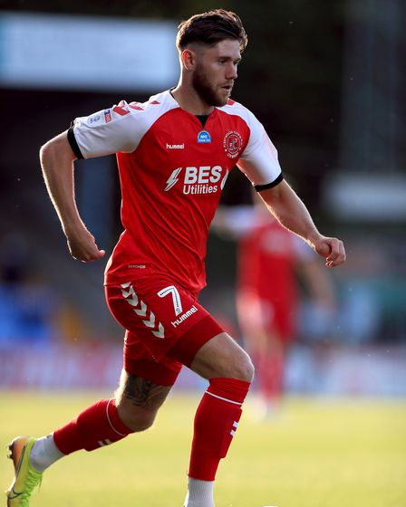 Fleetwood Town's Wes Burns during the Sky Bet League One play-off semi-final, second leg match at Ad