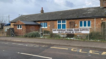 Campaigners have opposed the close of Wormegay Primary School.