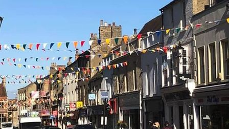 In April,Ely High Street has been given a colourful facelift thanks to new bunting.