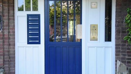 The new secured doors to flats with a telecom system. Picture: DENISE BRADLEY