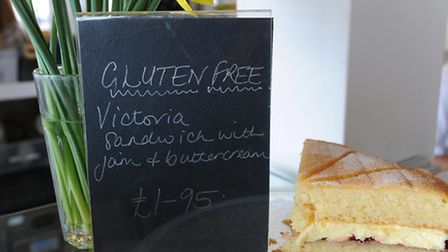 News; Photograph Simon Parker 2/4/2010; Examples of the Gluten Free food at Southwold Pier; MyPhoto