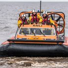 Hunstanton RNLI took part in a training exercise with the HM Coastguard on The Wash at Hunstanton. P