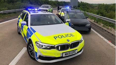 In Cambridgeshire, police thought they had caught the driver of a stolen car. But they had a surprise