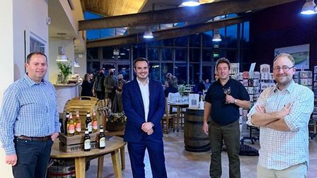Simon met with Barny Butterfield, Michael Dart from Darts Farm and Mark Hopper from the National Association of Cider Makers