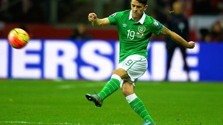 Republic of Ireland's Robbie Brady during the European Championship Qualifying match at the National