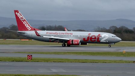 File photo dated 13/1/2020 of a Jet2 plane landing at Manchester Airport. The airline has tapped inv