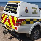 HM Coastguard was called in after an object was found on the beach, south of Cart Gap Happisburgh. P
