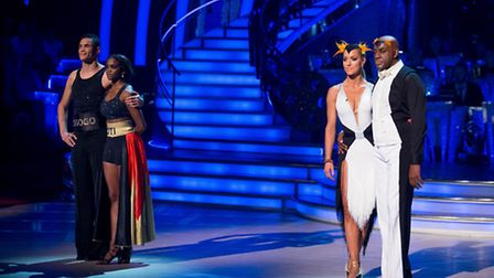 Anthony Ogogo and Ainsley Harriott faced the dance off. PIC: Guy Levy/BBC