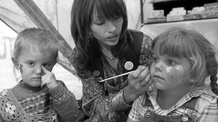 From The Archives West Face painting at the Rougham Tree Fair September 1982EADT 02.09.2