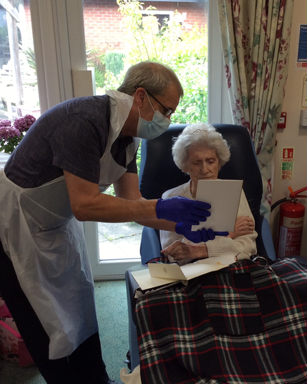 Elise Alder, received a card for The Queen after turning 100 last month