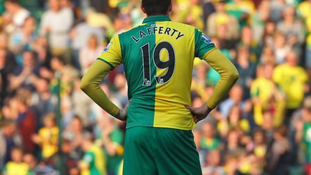 Is Kyle Lafferty about to turn his back on Norwich City? Picture: PAUL CHESTERTON/FOCUS IMAGES