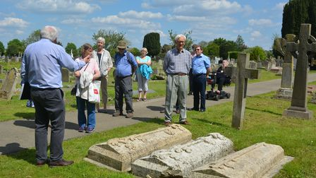 Learning the stories behind the stones at Ely Cemetery open day.