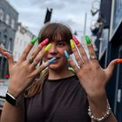 Nailed... the woman who gets her manicure atRoman Road's Plane Tree salon.