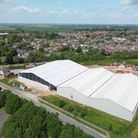 The massive warehouse on Manea Road, Wimblington, built by Knowles that is in breach of planning permission.
