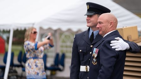 Two family members were allowed to attend the graduation at RAF Honington