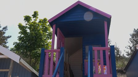 One of the beach huts on Wells beach. Picture: Danielle Booden