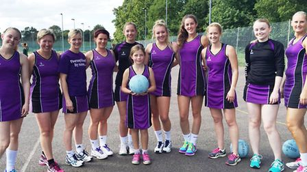 The Thoroughbreds, winning team of the charity netball afternoon competition at City Academy, Norwic