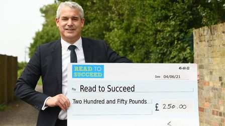 Steve Barclay Read to Succeed cheque June 2021