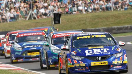 Action from last year's BTCC round at Snetterton.