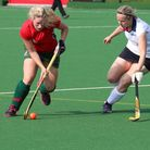 Norwich Dragons' player of the match Rachel King driving at the Bromley & Beckenham defence. Picture
