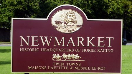 Newmarket's town sign
