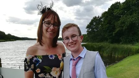Michelle Doe with son Callum who was diagnosed with a brain tumour in 2018