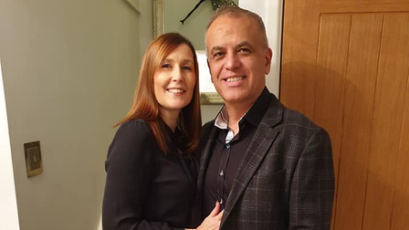Tony D'Amarco with his wifeAlison.
