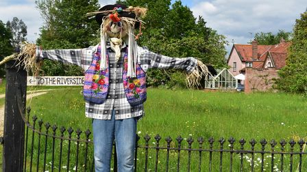One of the entrants to the movie themed Bredfield scarecrow trail