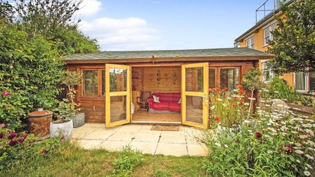A summerhouse outside the property which could be used as an office