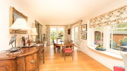 The property features double reception rooms