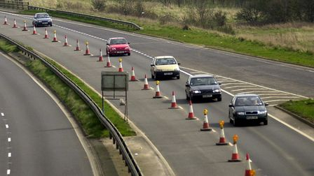 Traffic flows freely through roadworks on the A47 King's Lynn bypass, but will the lane closure caus