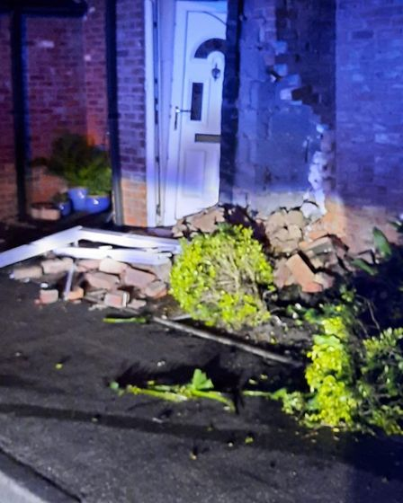 Photos released by police of the car that crashed into house at Ramsey