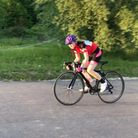 Barking & Dagenham Cycling Club's Sophie Potter in racing action