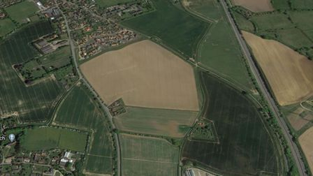 The land in Pettistree where the homes are to be built
