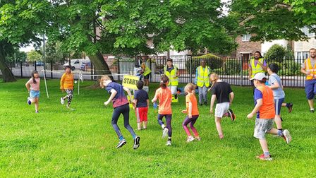 Youngsters in action at Barking & Dagenham junior parkrun