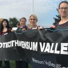 Protesters voice their objections to the proposed Western Link road at the Norfolk Showground on Monday, June 7.