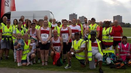 Dagenham 88 Runners and volunteers at the first ELVIS race of the season