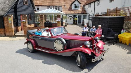 Malcolm Gooch enjoyed a ride in a classic Beauford touring car in Suffolk