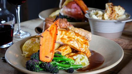A roast dinner at The Three Blackbirds, one of the Chestnut Group's Suffolk pubs