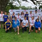All smiles from Exmouth Harriers at the Conquer24 event at Powderham Castle