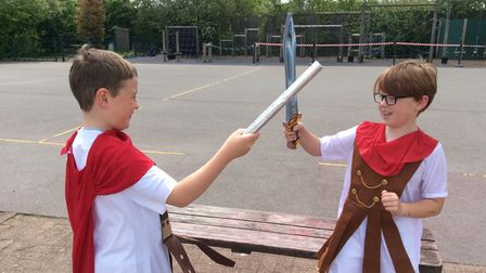 Roman Day 2021 for Year 3 pupils at Great Dunmow Primary School
