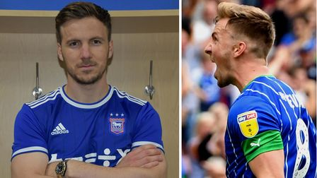 Ipswich Town have signed midfielder Lee Evans on a Bosman free transfer from Wigan. Photos: ITFC/PA