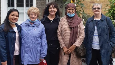 """Some of the """"unsung community heroes"""" at the carers' centre in Brayford Square in Stepney Green"""