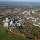 Aerial view of Adastral Park in Ipswich