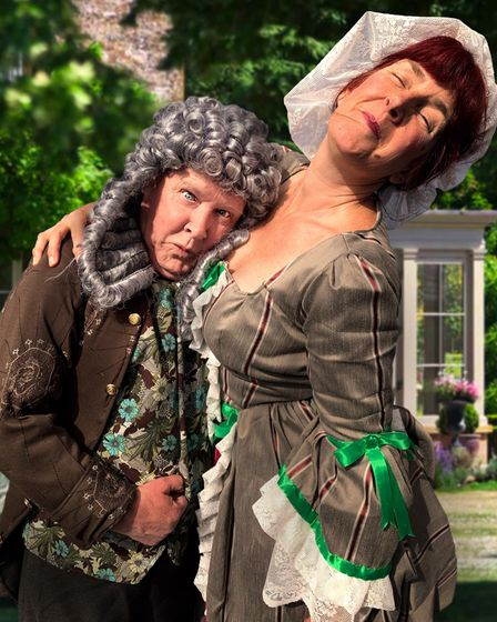 Mr and Mrs Hardcastle in the classic comedy She Stoops To Conquer